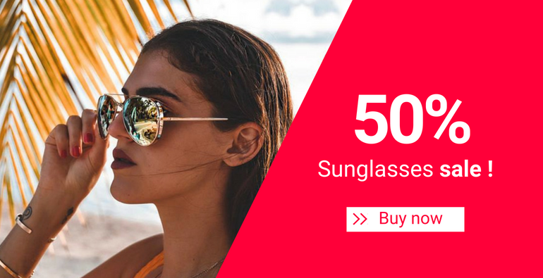 50% Sunglasses sale