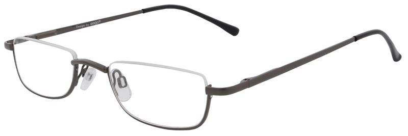 015.061 Reading glasses metal 1.00